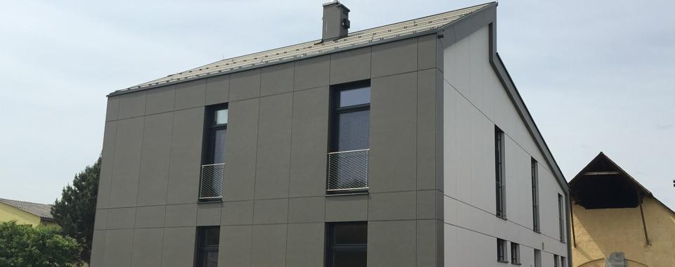 Eternitfassade beim Einfamilienhaus Lienhart.